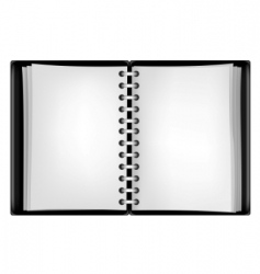 black notepad vector image vector image