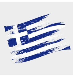 color greece national flag grunge style eps10 vector image vector image
