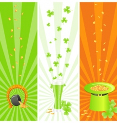 Ireland national banners vector image vector image