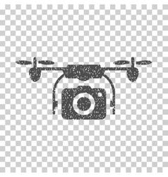 Camera drone grainy texture icon vector