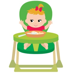 child eats vector image vector image
