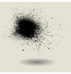 ink splash texture design template vector image