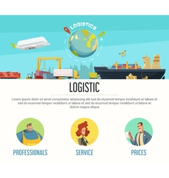 Logistics Page Design vector image