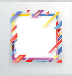 abstract paper frame flyer geometric background vector image vector image