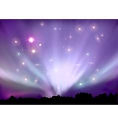 aurora boreal vector image vector image