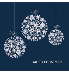 Christmas balls from white snowflakes vector image vector image
