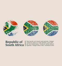 south africa flag design concept vector image