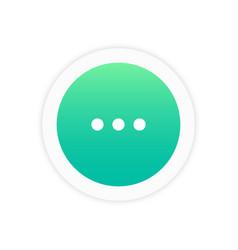 three dots icon vector image