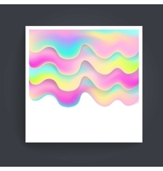 Abstract background holographic vector
