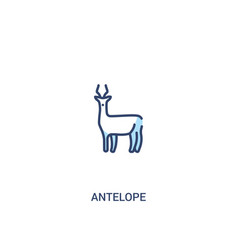Antelope concept 2 colored icon simple line vector
