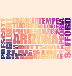 arizona state cities vector image
