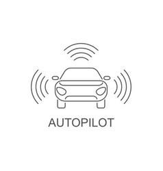 autopilot icon simple element vector image