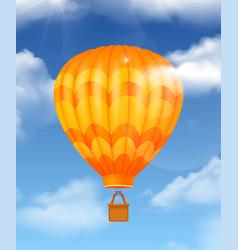 Baloon realistic composition vector