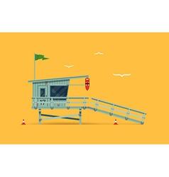 Beach lifeguard shack vector