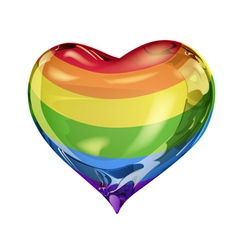 Big rainbow heart vector