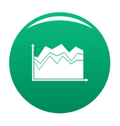 business graph icon green vector image