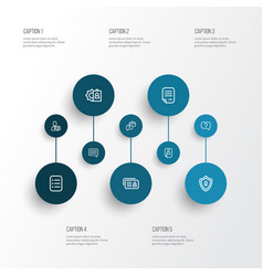 business icons line style set with question vector image