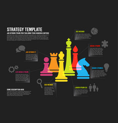 business strategy infographic template infographic vector image