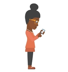 Business woman using mobile phone vector