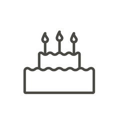 cake icon line birthday cake symbol vector image