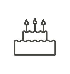 cake icon line birthday cake symbol vector image