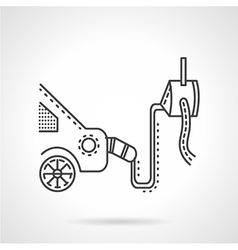 Car emission control device line icon vector