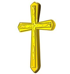 Christian gold cross vector