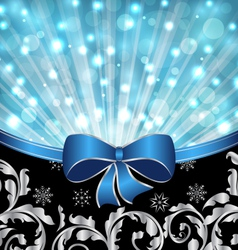 Christmas ornamental background glowing design vector image