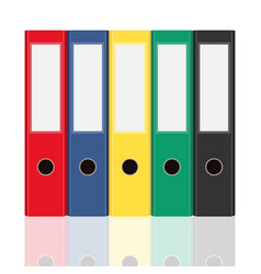 closed office binders set isolated on white vector image
