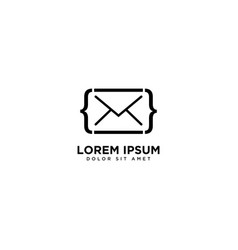 Code mail design communication simple vector