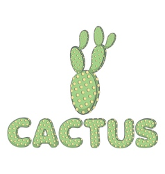 Color image of a cactus with stylized lettering vector
