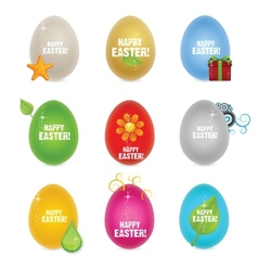 Colored clean and creative nature easter eggs vector