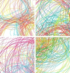 Colorful lines background for your design vector image