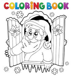 Coloring book santa claus thematics 5 vector