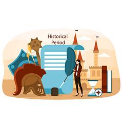 Concept history science vector