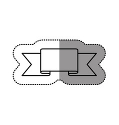 Contour symbol ribbon icon vector