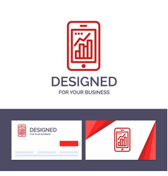 creative business card and logo template graph vector image