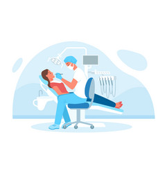 Dentistry medical checkup in hospital doctor vector