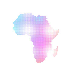 dotted map african continent vector image