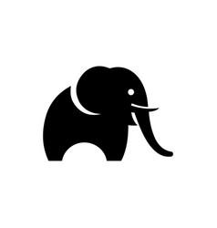 elephant stylized logo silhouette vector image