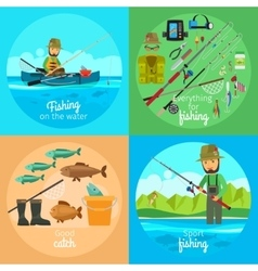 Fishing concept vector