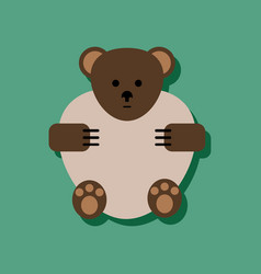 Flat icon design collection teddy bear in sticker vector