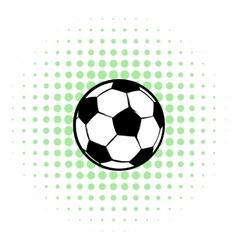 Football ball icon comics style vector