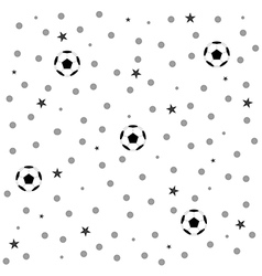 Football Ball Star Polka Dot White Background vector
