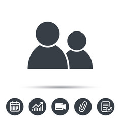 friends icon group of people sign vector image