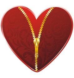 golden zipper floral vector image