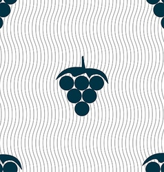 Grapes icon sign Seamless pattern with geometric vector