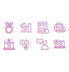 growth chart international recruitment and start vector image