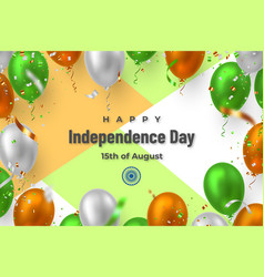 happy indian independence day banner vector image