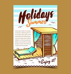 holidays summer beach advertising poster vector image